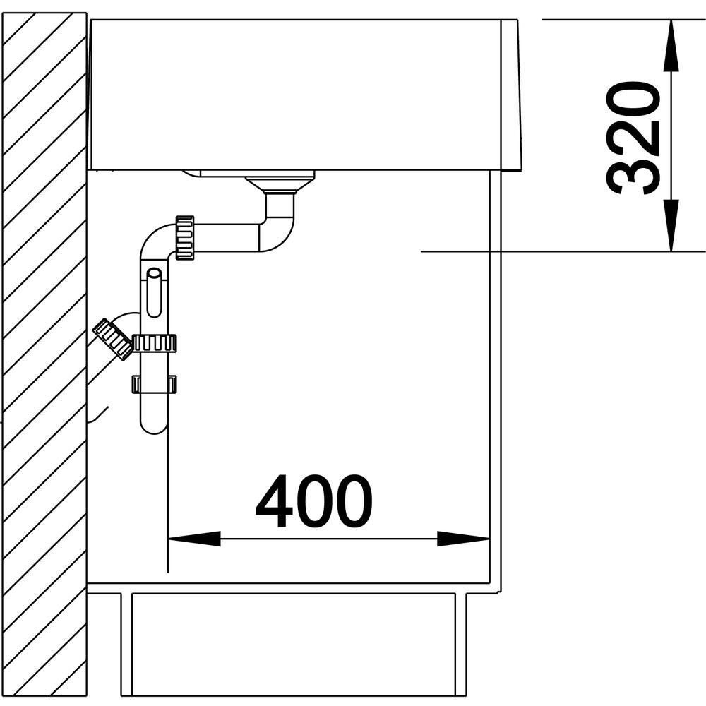 Blanco Panor 60 s jedným otvorom